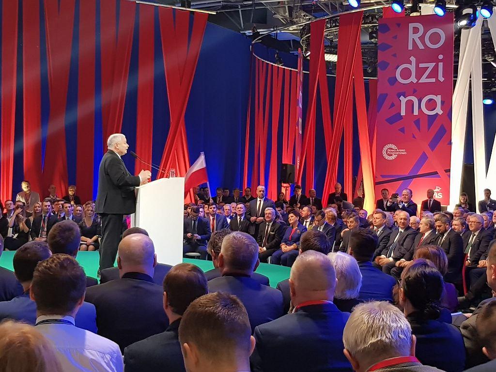 Jarosław Kaczyński na konwencji