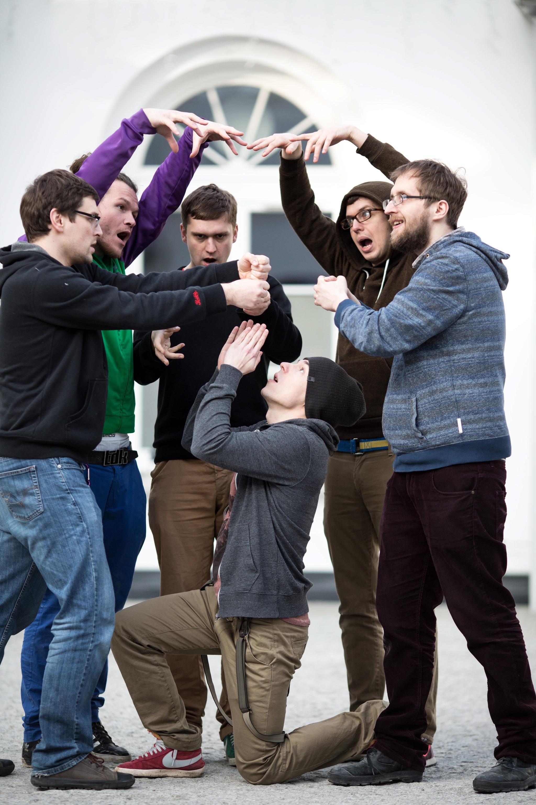 Aktorzy Teatru Improwizowanego Klancyk (fot. Bartosz Bobkowski/Agencja Gazeta)