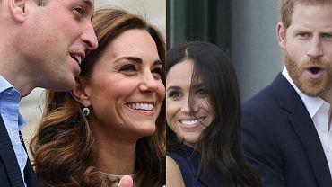 Książę William, księżna Kate, Meghan Markle, książę Harry