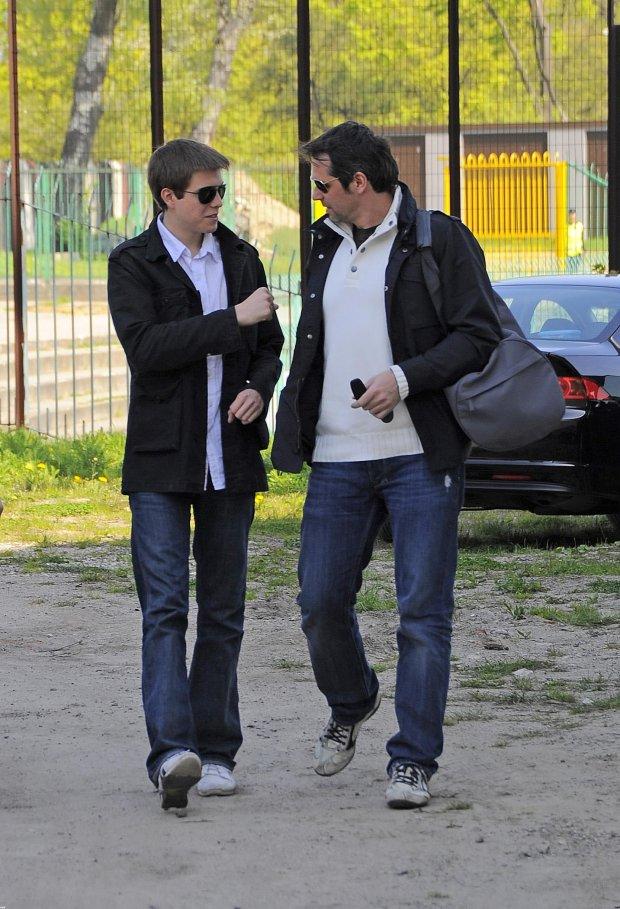 Paweł Deląg z synem Pawłem