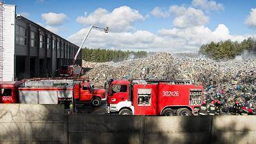 Pożar hałdy śmieci w Studziankach w 2015 r.