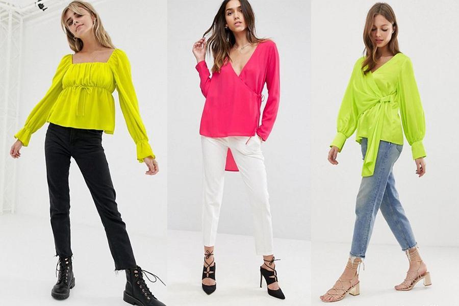 neonowe bluzki