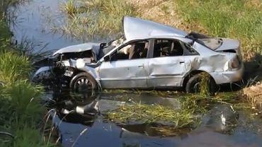 Wypadek w Kosiłach, nagranie portalu grajewo24.pl