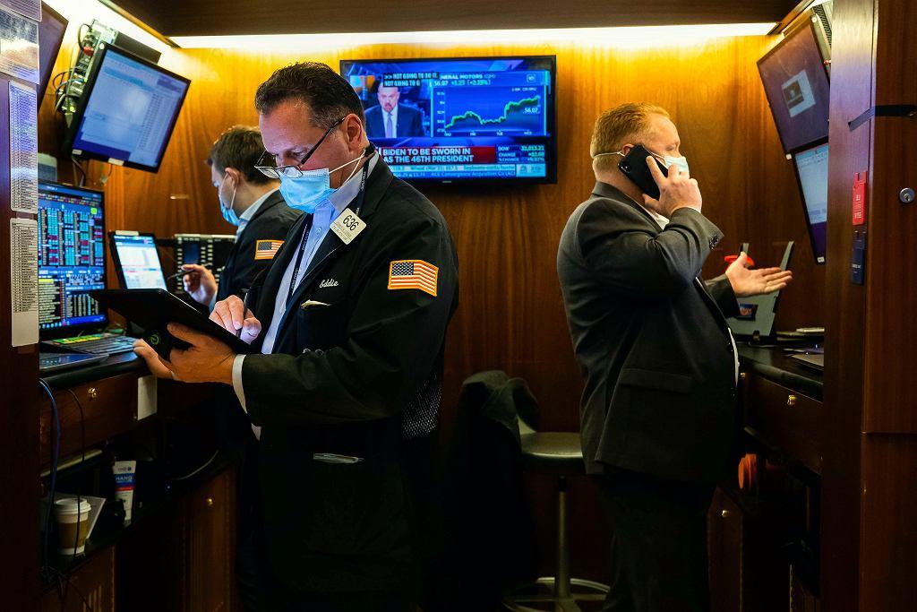 Wall Street, 20 stycznia 2021 r. Rekordy na giełdzie w dniu inauguracji Joe Bidena.