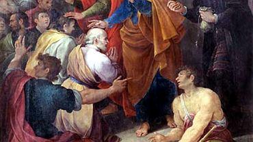 Na obrazie Avanzina Nucciego z 1620 r. św. Piotr gani Szymona Maga uważanego przez ojców Kościoła za protoplastę religii gnostyckiej. Jej wyznawcy byli konkurentami chrześcijan głównego nurtu. Nic więc dziwnego, że ci uważali gnozę za wytwór szatana. Euzebiusz z Cezarei, wybitny dziejopis chrześcijaństwa (ok. 264-339), tak pisał o narodzinach gnostycyzmu: Gdy tak rozprzestrzeniające się po całym globie kościoły świeciły jak wspaniale lśniące gwiazdy, a wiara w naszego zbawiciela i pana Jezusa Chrystusa zwycięsko przenikała do wszystkich ludów, nienawistny dobru diabeł jako wróg prawdy i stały, najzacieklejszy przeciwnik zbawiania, w walce z Kościołem wykorzystujący wszelkie możliwe środki (...) wziął na swą służbę złych, oszukańczych ludzi jako narzędzia unicestwienia dusz i jako pachołków zepsucia.