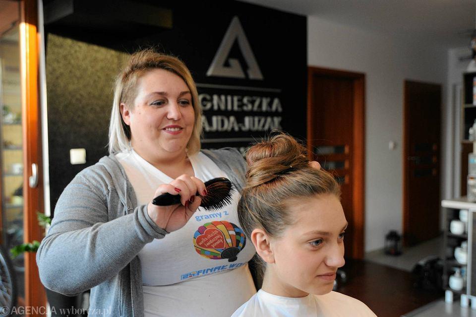 Agnieszka Gajda-Juzak - fryzjerka i stylistka, w której salonie kolejny raz odbędzie się licytacja dla Wielkiej Orkiestry Świątecznej Pomocy