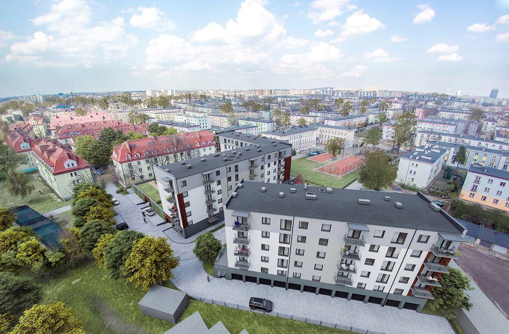 Przy ul. Niepodległości w Sosnowcu spółka Invest Gram planuje budowę dwóch budynków wielorodzinnych ze 120 mieszkaniami