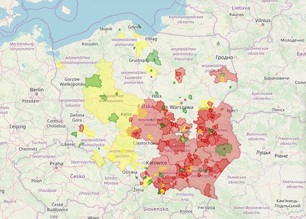 Atlas Nienawiści - mapa na dzień 4 marca 2020
