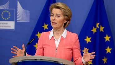 Szefowa Komisji Europejskiej Ursula von der Leyen. Kwatera główna UE, Bruksela, 4 marca 2020