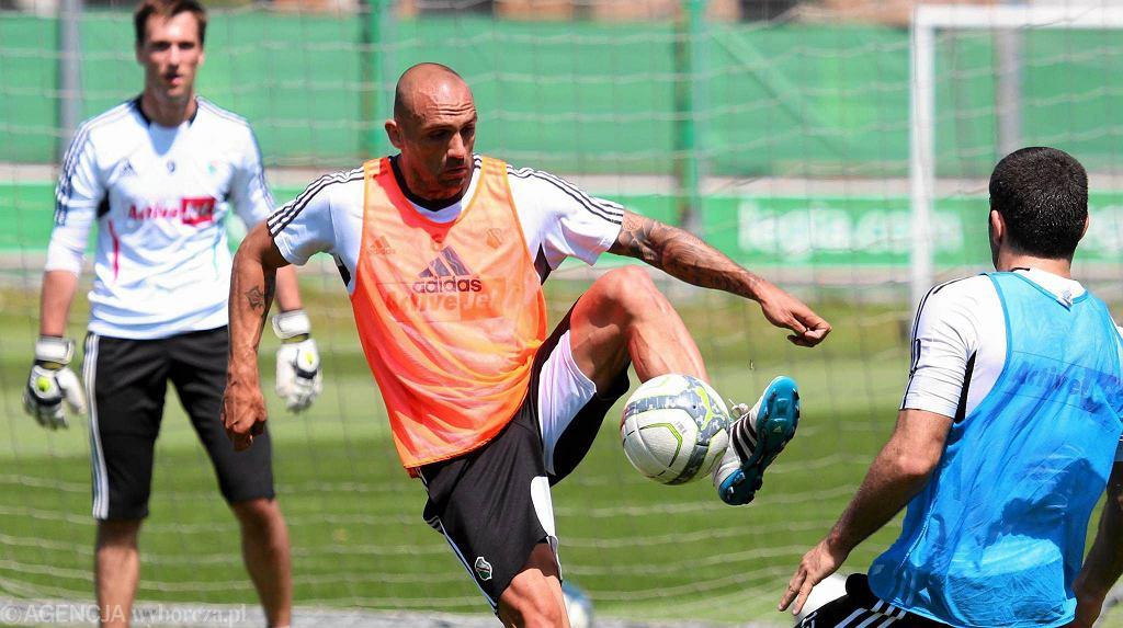 Raul Bravo na pierwszym treningu z Legią