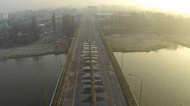 Most Łazienkowski widziany z drona