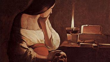 'Pokutująca Magdalena' Georgesa de La Tour (fragment)