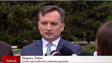 Zbigniew Ziobro na konferencji prasowej po ataku nożownika