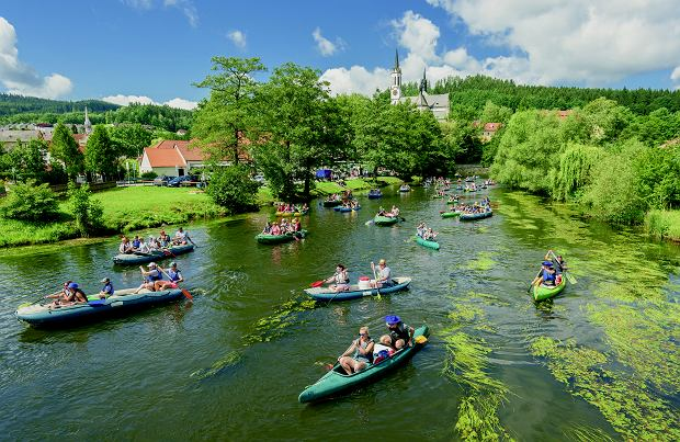 Wełtawa. W Czechach biwakowanie na dziko jest zabronione, ale nie brakuje noclegów wzdłuż rzeki.