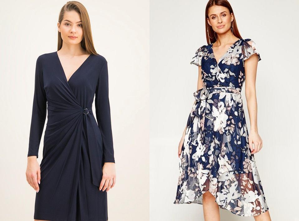 Sukienki midi z drapowaniem