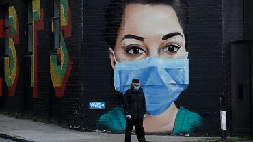 Pandemia koronawirusa. Londyn, Wielka Brytania, 23 kwietnia 2020