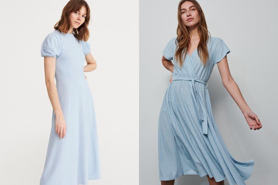 Błękitne sukienki na lato