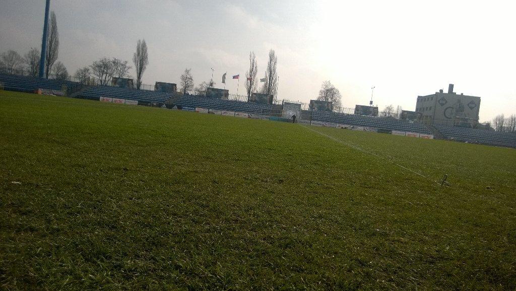 Murawa na stadionie Ruchu Chorzów