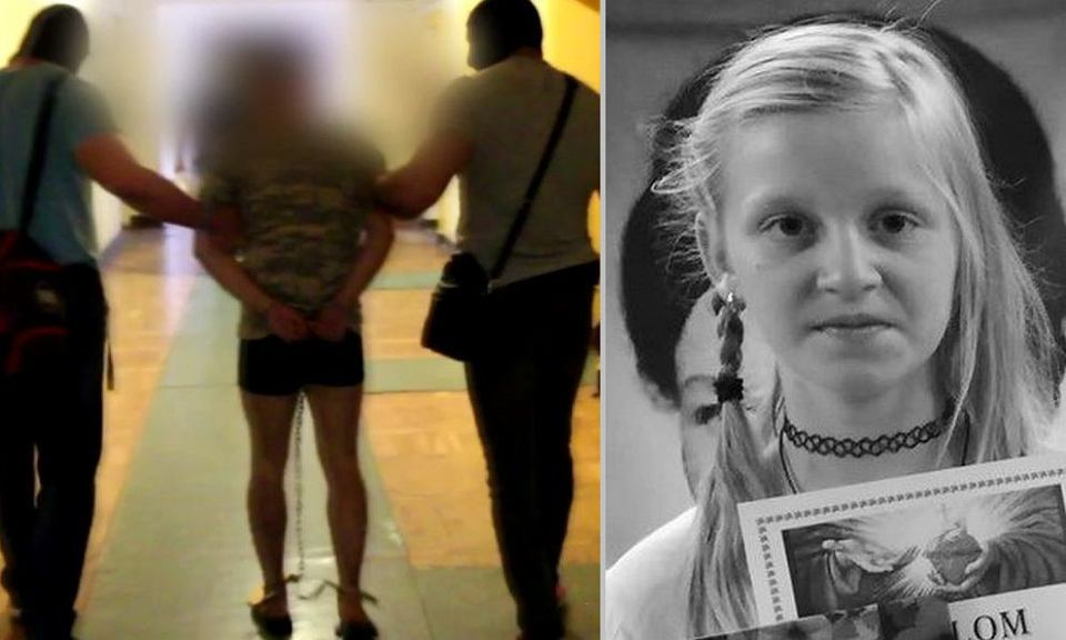 Zatrzymany Jakub A. Obok portret Kristiny z szukającej ją rodziny