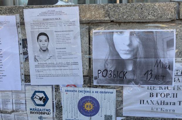 Euromajdan SOS przedstawił listę osób uważanych za zaginione. Ich zdjęcia porozklejano na Majdanie