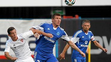 Ruch Chorzów grał w Gliwicach także w eliminacjach LE. Na zdjęciu mecz z FC Vaduz
