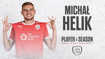 Michał Helik wybrany piłkarzem sezonu w Barnsley FC. Źródło: Twitter/ Barnsley (oficjalna strona)