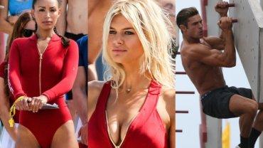 """Właśnie rozpoczęły się zdjęcia do nowej filmowej wersji """"Słonecznego patrolu"""", które powstają na plaży w Miami. Uwagę mediów przykuwa niesamowicie umięśniony Zac Efron, ale i nowe seksbomby, które zobaczymy na ekranie. Nowa Pamela Anderson to... była dziewczyna DiCaprio!"""