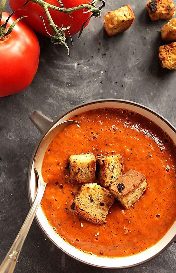 Krem z pomidorów jest zdrowy, pyszny i pożywny