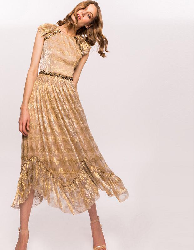 Złota sukienka Nissa