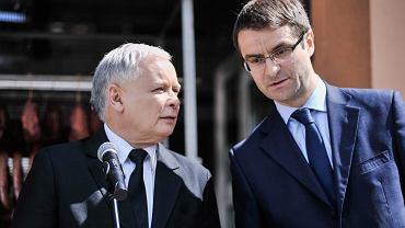 Tomasz Poręba i Jarosław Kaczyński