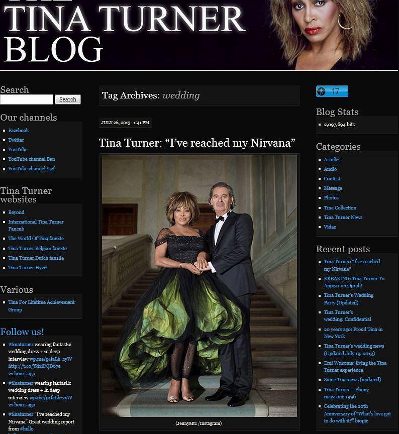 Tina Turner, Erwin Bach.