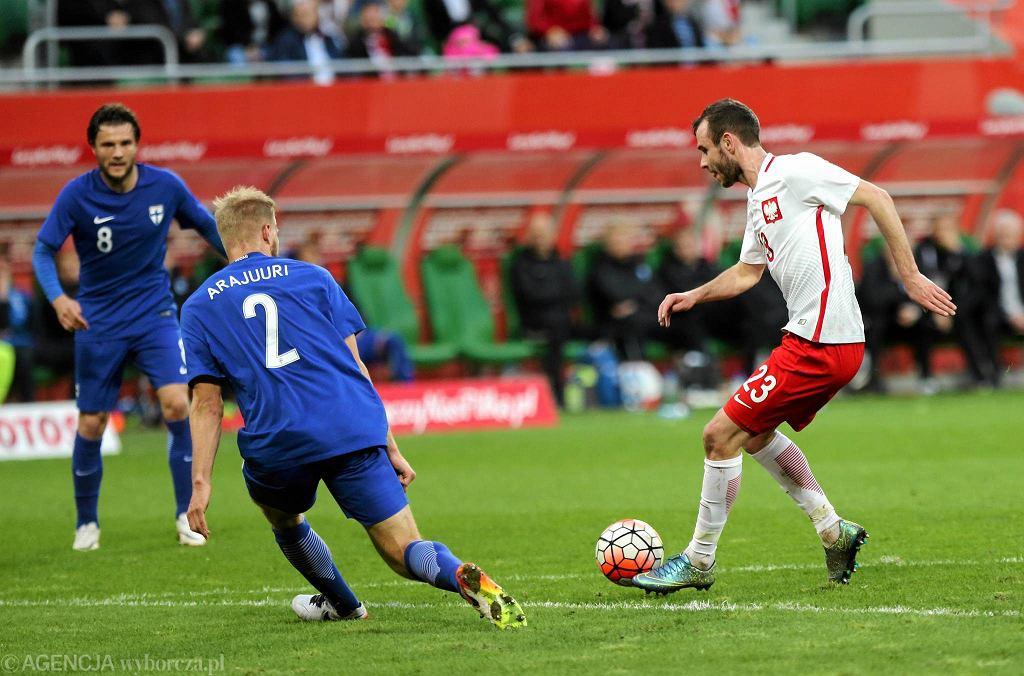Polska - Finlandia 5:0. Z piłką Filip Starzyński