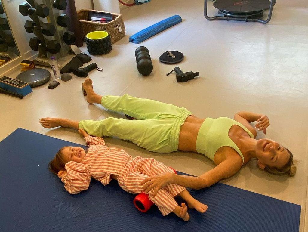 Kate Hudson z córką na treningu