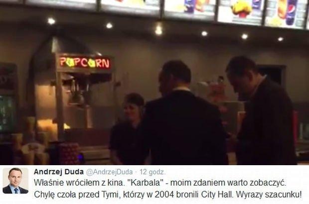 Andrzej Duda w kinie