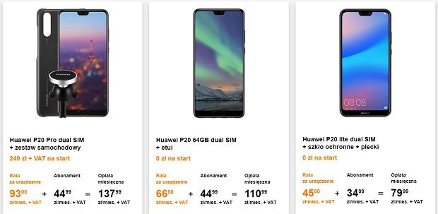 Huawei P20 w ofercie Orange dla Małych Firm
