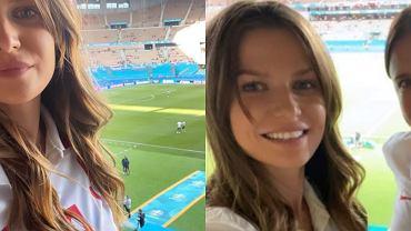 Anna Lewandowska z siostrą Roberta kibicują na trybunach. Miały niemal bliźniacze stylizacje!