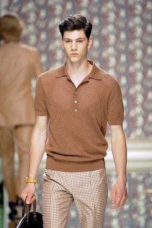 Pokaz wiosennej kolekcji Ermenegildo Zegna, moda męska, kolekcje, koszulki