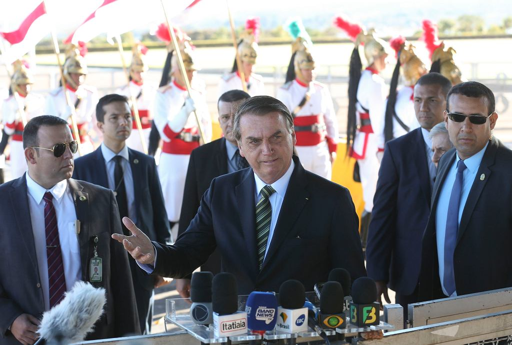 Brazylia. Prezydent Jair Bolsonaro.
