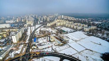 Widok na rozbudowę mieszkaniową w Warszawie