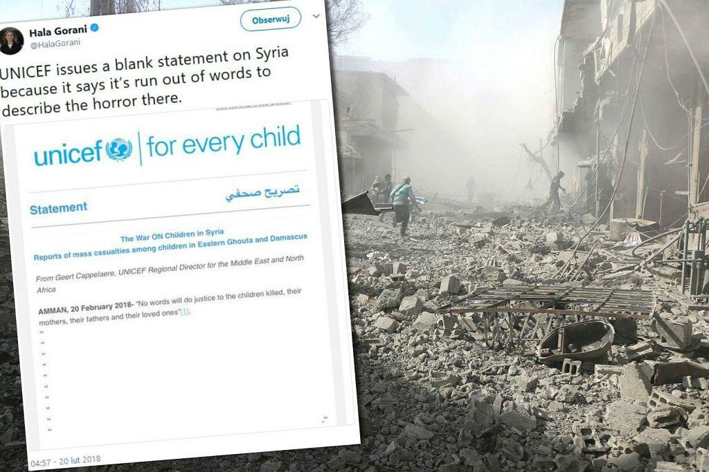 UNICEF publikuje puste oświadczenie ws. nalotów w Syrii, w których giną dzieci