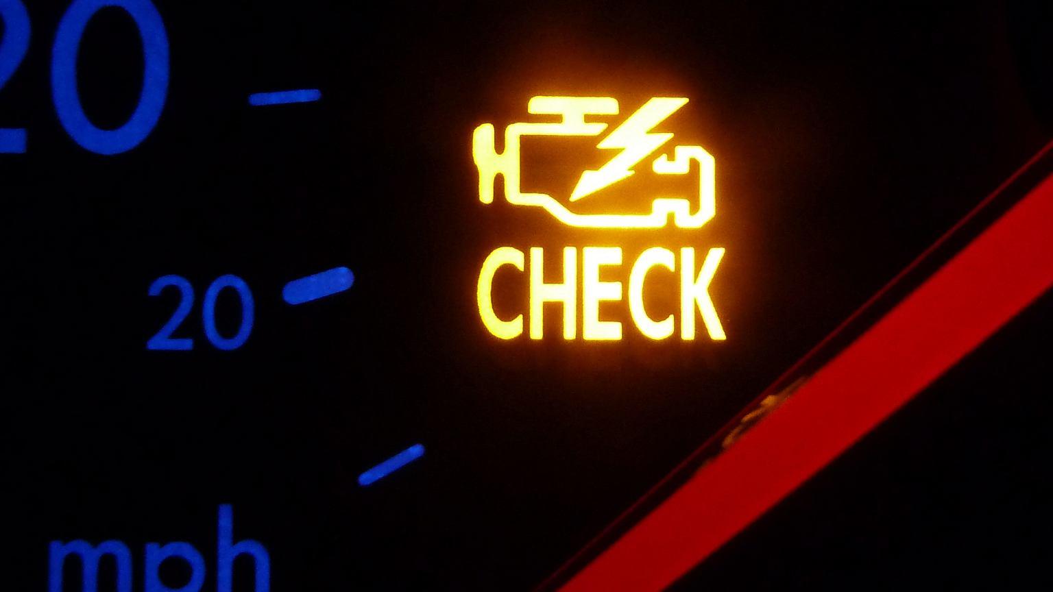 Kontrolka Check Engine Co Robic