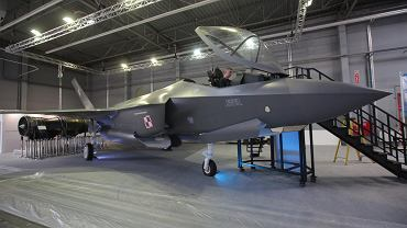 Myśliwiec F-35 na Międzynarodowym Salonie Przemysłu Obronnego w Kielcach, 02.09.2019
