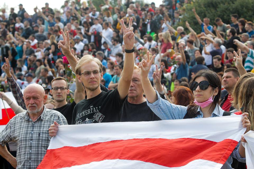 Protest w Mińsku, 15 sierpnia 2020 r.