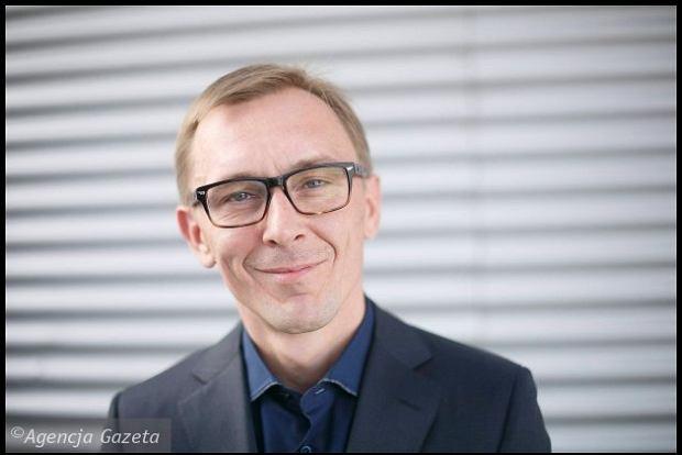Krzysztof Rak . Konferencja prasowa filmu Bogowie . 39. Festiwal Filmowy w Gdyni / fot. Lukasz Glowala / Agencja Gazeta