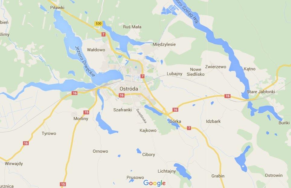 Wypadek wiceszefa polskiej policji pod Ostródą