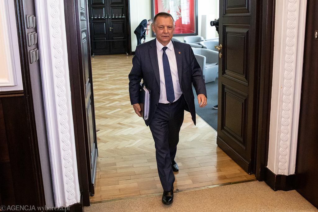 Marian Banaś podczas pierwszego posiedzenie rządu po rekonstrukcji, Warszawa 06.06.2019