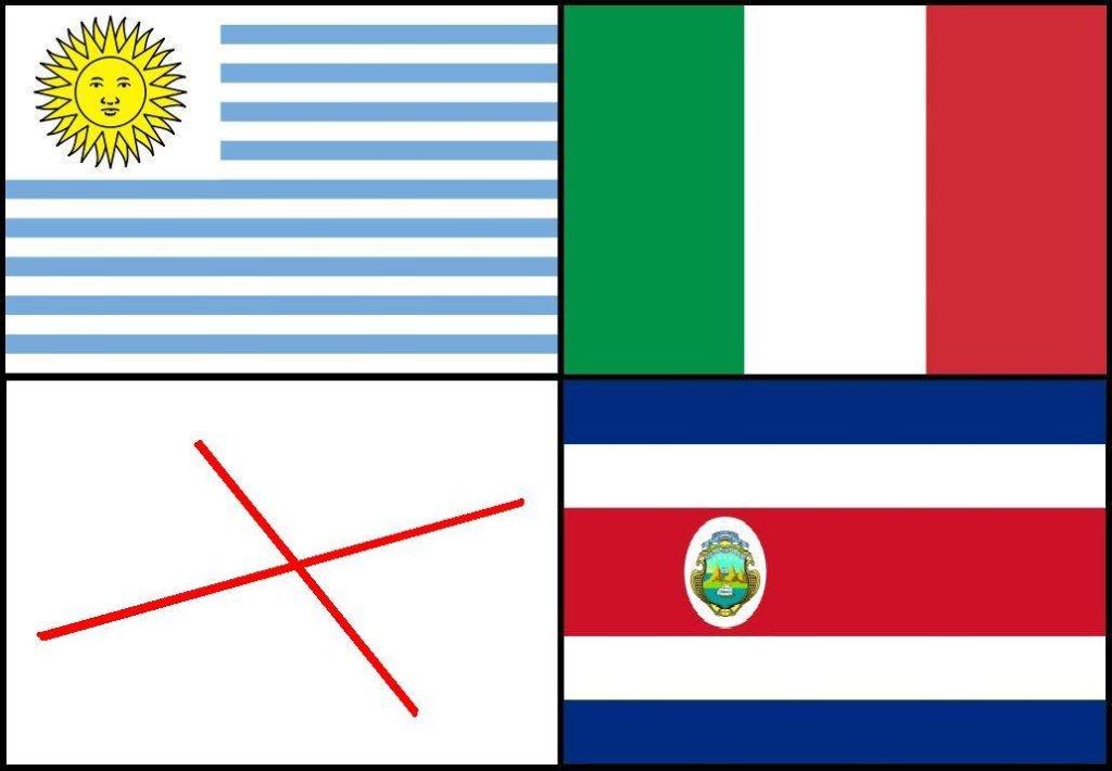 Flaga Anglii jest krzyżem świętego Jerzego, ale po losowaniu grup MŚ zamienił się on w krzyżyk stawiany przez kibiców na angielskiej reprezentacji