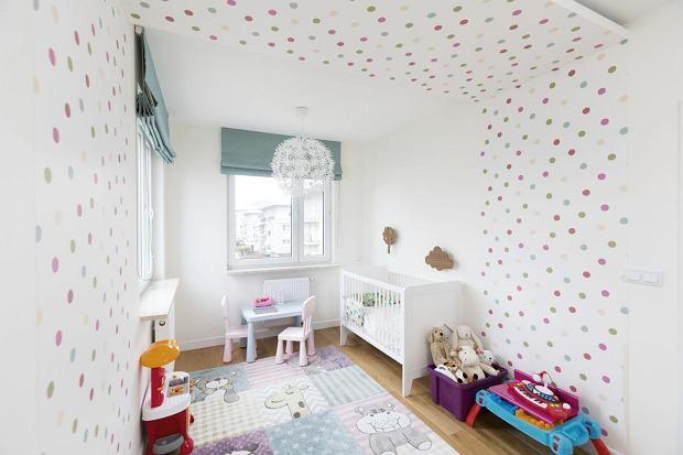 Pokój dziecięcy w groszki