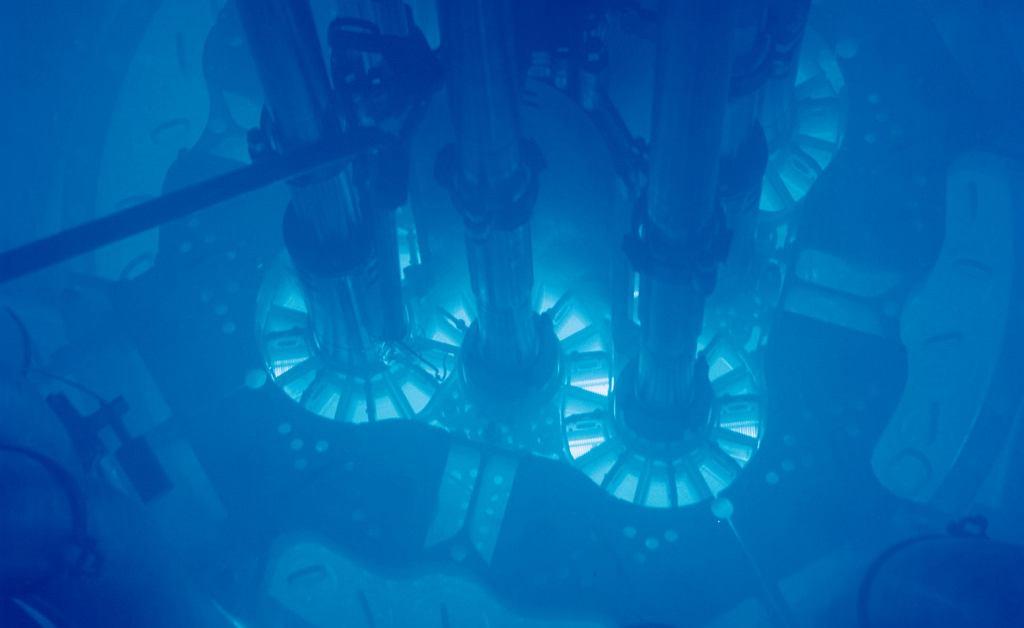 Rdzeń reaktora eksperymentalnego podczas pracy