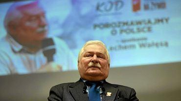 Częstochowa, 27 października 2016. Lech Wałęsa na spotkaniu z mieszkańcami